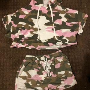 2 Piece Matching Pink Camo set